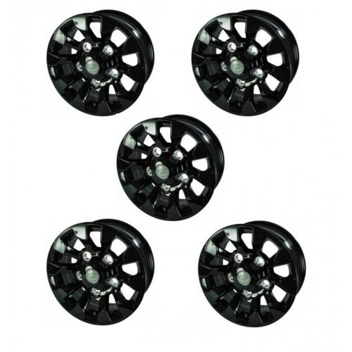 5 X Sawtooth Style Alloy Wheel Black 16 Quot X 7 Quot Lr025862